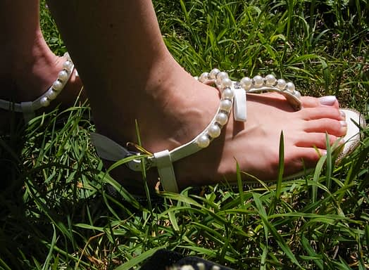 Pearl bridal shoes bridal outfit