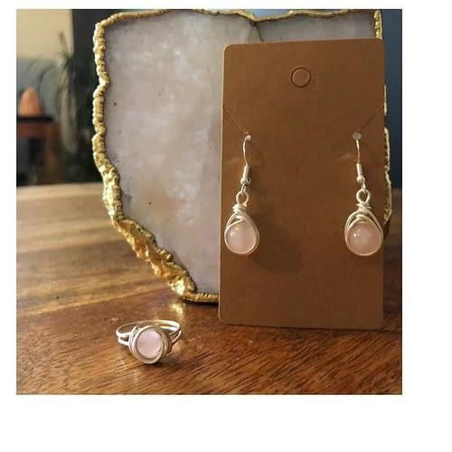 jewellery maker escott rose quartz set