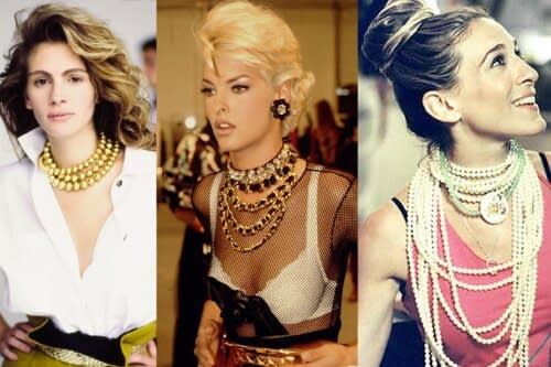 layered '90's jewellery