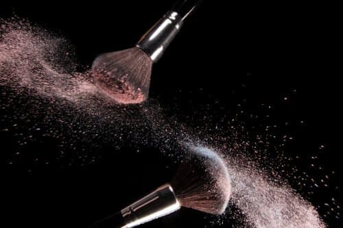 how to clean makeup brushes powder