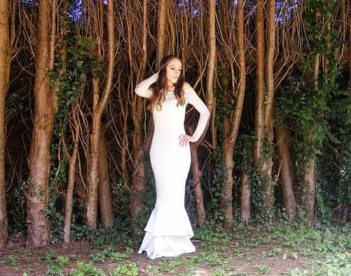 Boohoo wedding dress bridal outfit