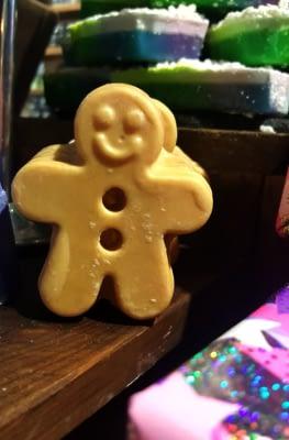 gingerbread man massage bar
