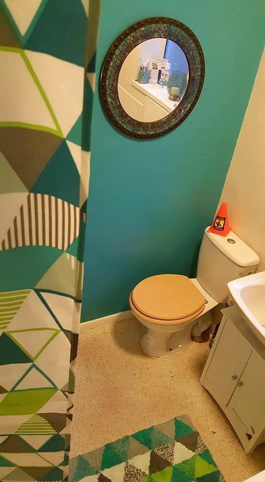 finished bathroom revamp